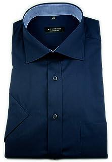 Eterna Herren Hemd Kurzarm L//42 Comfort Fit Blau 3215//11//K147