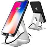 Cell phone stand, iPhone Stand, Pasonomi Smartphone Cradle, Dock, Holder Stand for iPhone X 8 8 Plus 7 6 5 5s Samsung Galaxy S9 S9 Plus S8 S7 Note 8 charging, Accessories Desk, all Android Smartphone