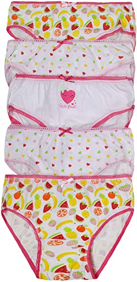 5-6 7-8 6 Girls Briefs 100/% Cotton Pattern Knickers Pants Age 2-3 3-4