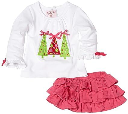 469d3b38bae Amazon.com  Mud Pie Baby Girls  Triple Tree Tee and Ruffle Skirt Set ...