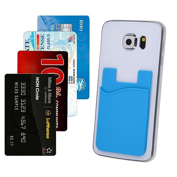 amazon com credit card id card holder attach to any phone rh amazon com