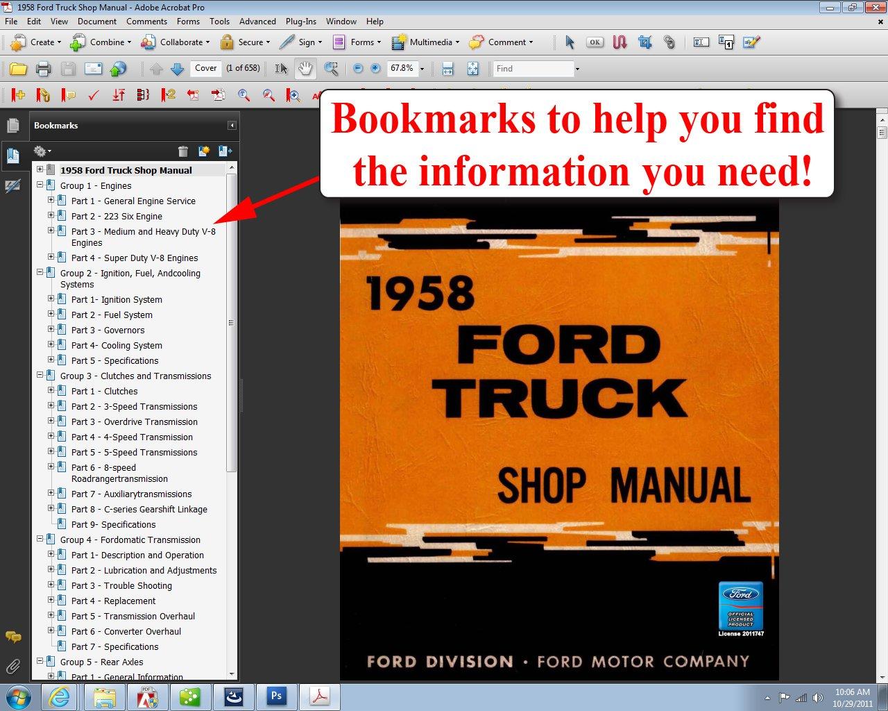 Free Ford Wiring Diagram 1958