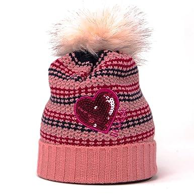 big discount sale meet Desigual - Bonnet - Femme * Taille Unique - Rose - M/L ...
