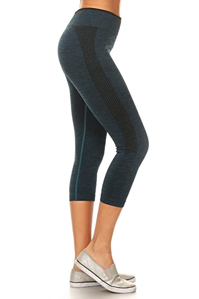 O TO S Womens High Waist Dry Fit Power Compression Workout Yoga Sports Running Athletic Gym Leggings Pants