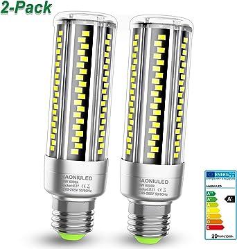 E27 LED maíz bombilla 20W 2500LM 6000K Bombillas Led E27 Blanco Frio Equivalentes Incandescente Bombillas 120W, Edison tornillo Candelabros bombillas Led Maíz Mazorca Luz lampara, pack de 2: Amazon.es: Iluminación