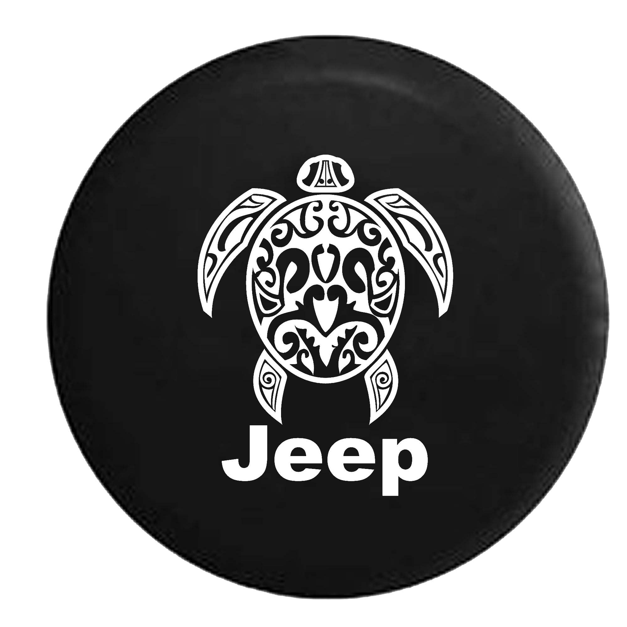 Jeep Sea Turtle Diving Beach Marine Life Spare Tire Cover Vinyl Black 33 in