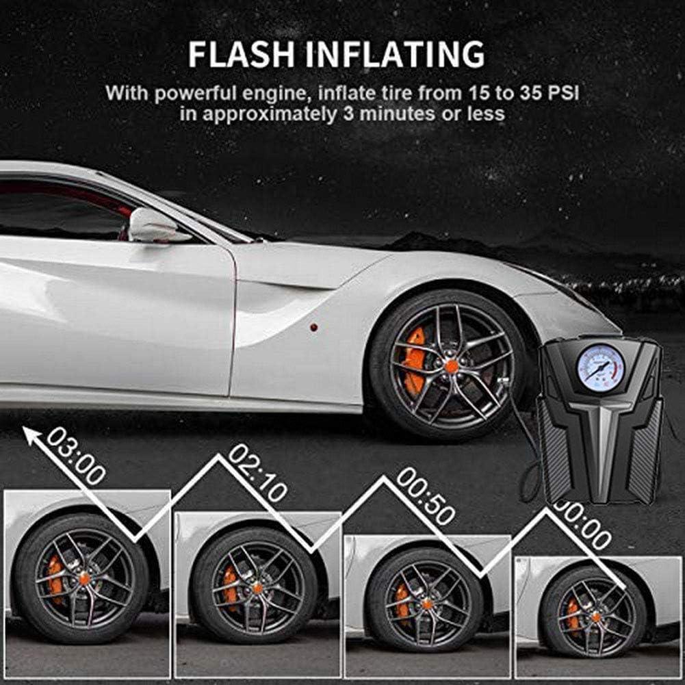 Digital-Gummireifen 150 PSI Auto-Luftpumpe WPFC Auto-Luftkompressorpumpe Bewegliches 12V Volt F/ür Auto-Motorrad-LED-Zeiger-Luftpumpe