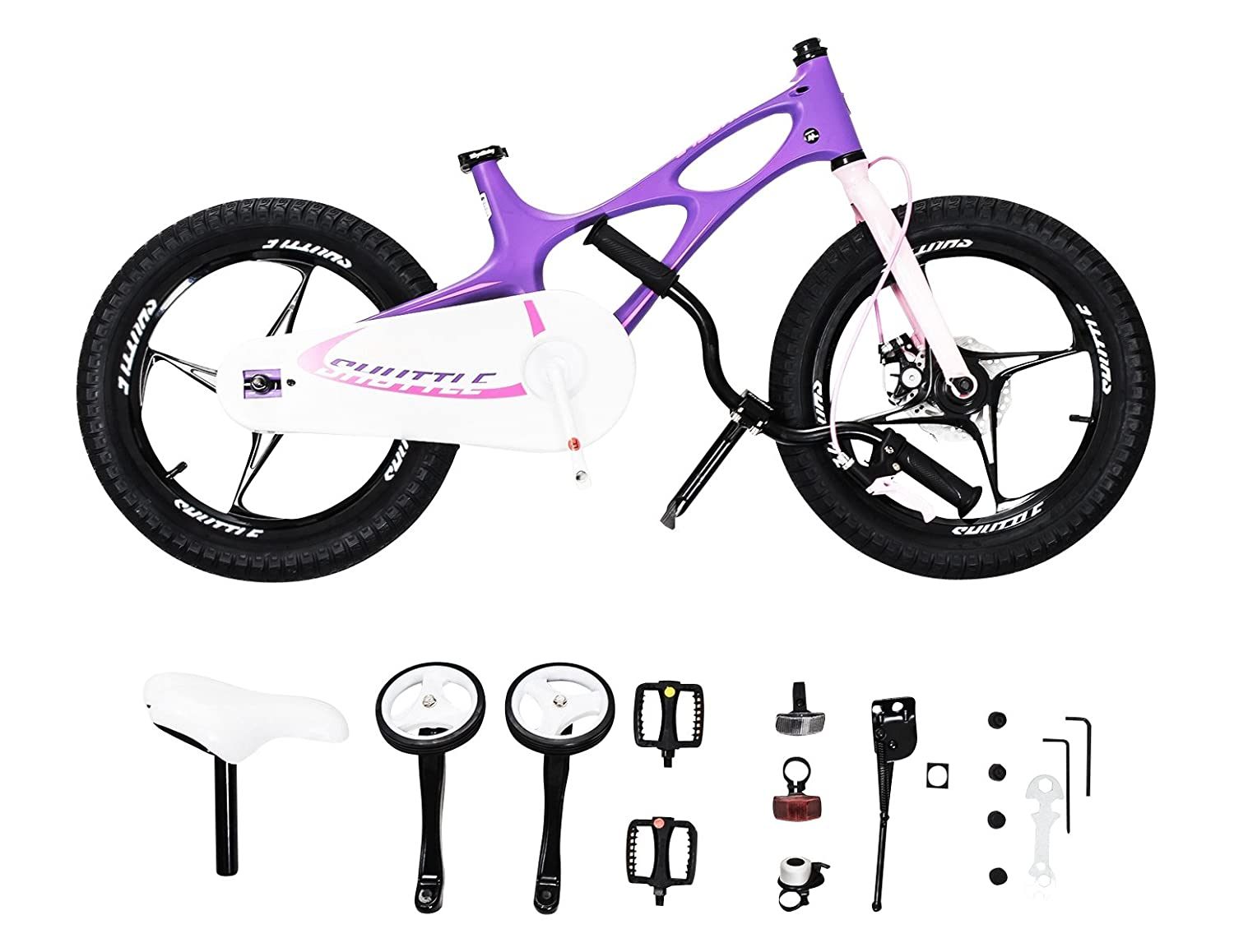 3783ed1d0c7 RoyalBaby Space Shuttle Kid's Bike, Lightweight Magnesium Frame, 16 inch  with Training Wheels and Kickstand, White, 2017 Newly-launched: Amazon.ca:  Sports & ...