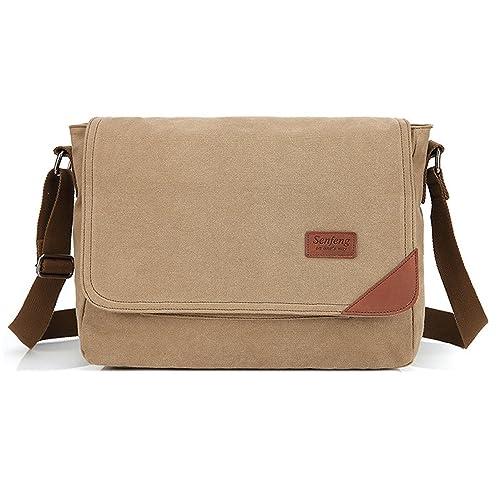 Outreo Bolso Bandolera Hombre Vintage Messenger Bag Bolsos ...