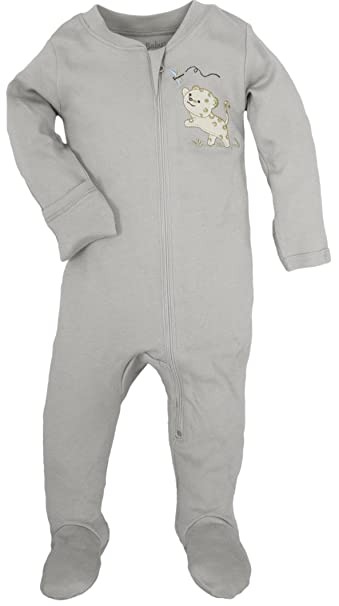 0f352b239 Amazon.com  WILD BABY Organic Cotton Zipper Baby Footie with Gift ...