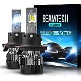 BEAMTECH H13 LED Headlight Bulbs,6500K 10000 Lumens Extremely Super Bright 9008 Hi/Lo 30mm Heatsink Base CSP Chips Conversion