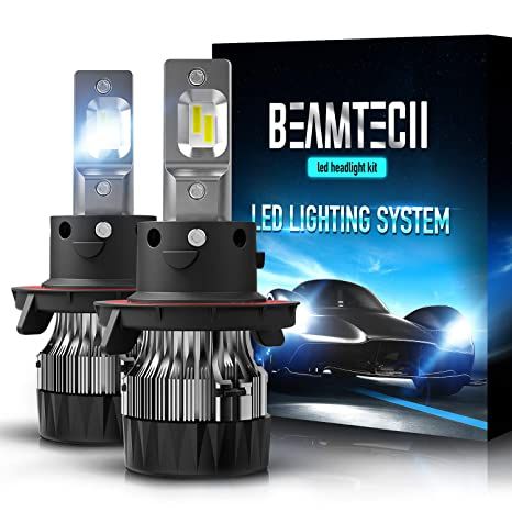 beamtech h13 led headlight bulbs,6500k 10000 lumens extremely super bright 9008 hi lo 30mm heatsink base csp chips conversion kit,xenon white  39 430w le spot pack 9376687019118 #7