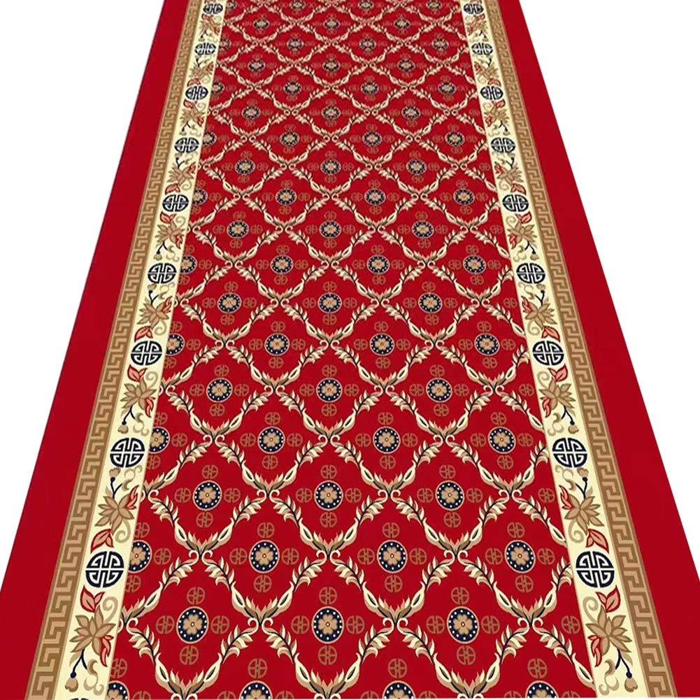ZENGAI-Läufer Teppich Flur Läufer Teppich Flur Waschbar Dauerhaft Antistatisch Schlafzimmer Wohnzimmer Restaurant Türöffnung Teppich, 2 Farben (Farbe : A, größe : 80x570cm)