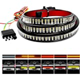 "Nilight TR-04 Truck Tailgate Bar 60"" Triple Row 504 LED Strip with Red Brake White Reverse Sequential Amber Turning…"