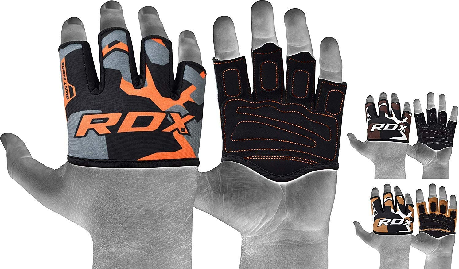 RDX Weight Lifting Gym Grips, Great for Strength Training, Powerlifting, Bodybuilding, Gymnastics, Workout and Exercise
