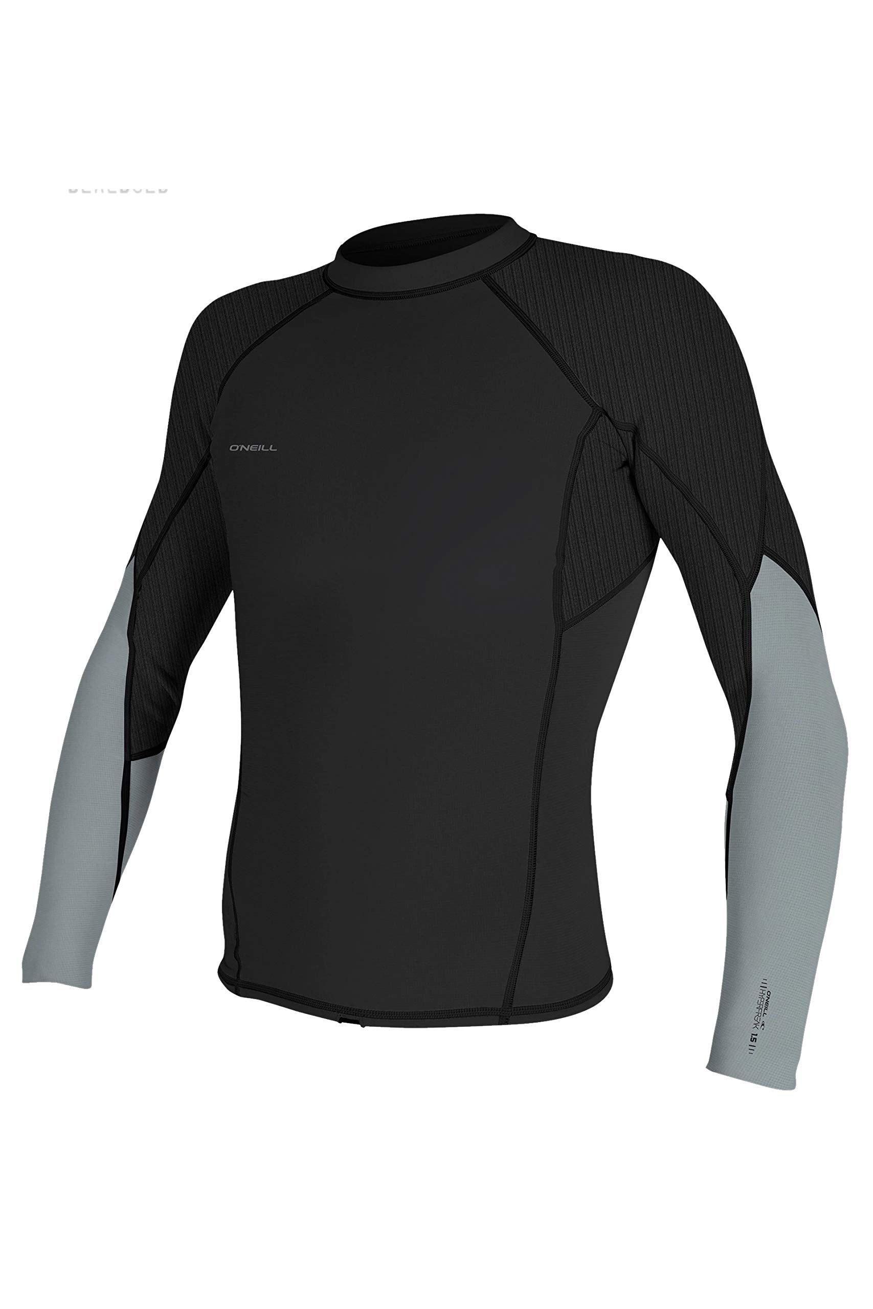 O'Neill Men's Hyperfreak 1.5mm Long Sleeve Top, Midnight Oil/Cool Grey, Small by O'Neill Wetsuits