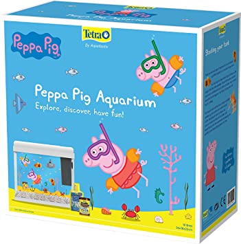 Tetra Pecera diseño de Peppa Pig, Color Blanco: Amazon.es: Productos para mascotas