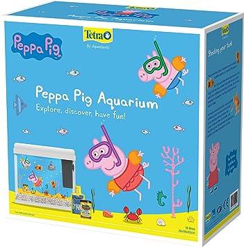 Tetra Pecera diseño de Peppa Pig, Color Blanco: Amazon.es: Productos para mascotas