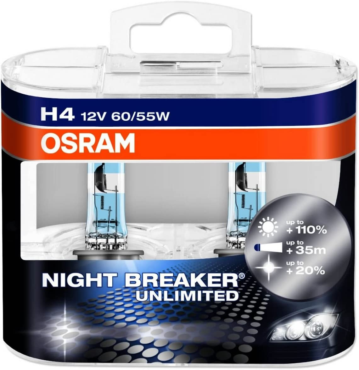 Pair Of Osram Night Breaker Bulbs Headlamp Nightbreaker Unlimited Headlight