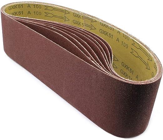 Lot de 30 bandes abrasives grain 24 100 x 914 BT203-91