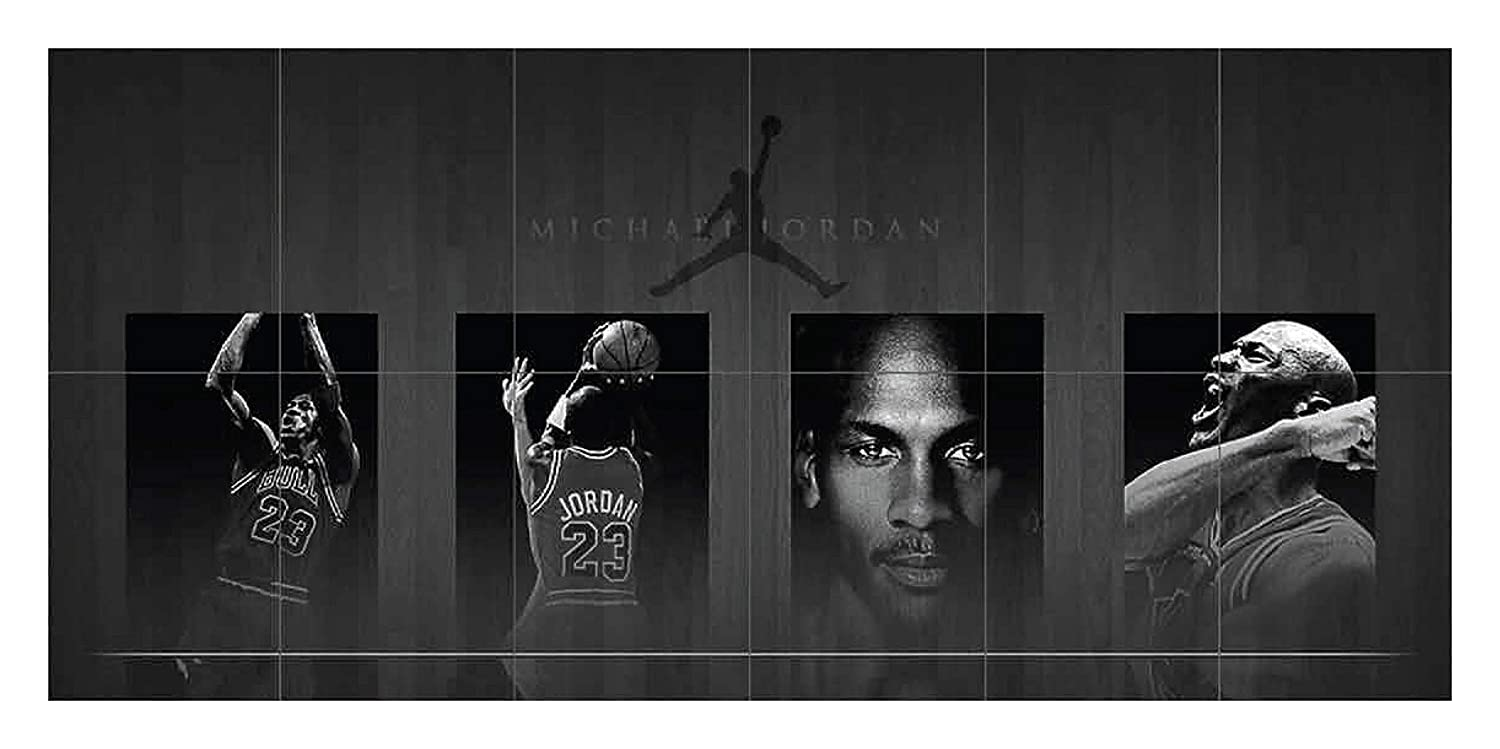 fc2d2bfa416 Amazon.com  MICHAEL JORDAN GIANT NEW WALL ART PRINT POSTER G420 by  Doppelganger33LTD  Home   Kitchen