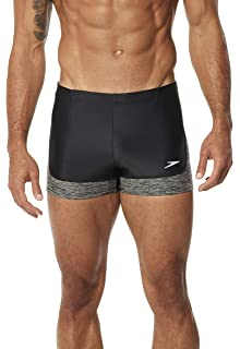 74f0ece984 Amazon.com: Speedo Men's PowerFLEX Eco Shoreline Square Leg Swimsuit ...