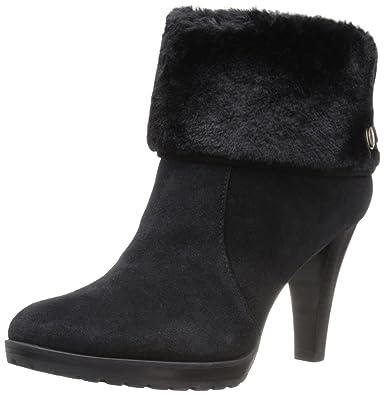 Anne Klein Women's Teamy Ankle Bootie, Black, ...