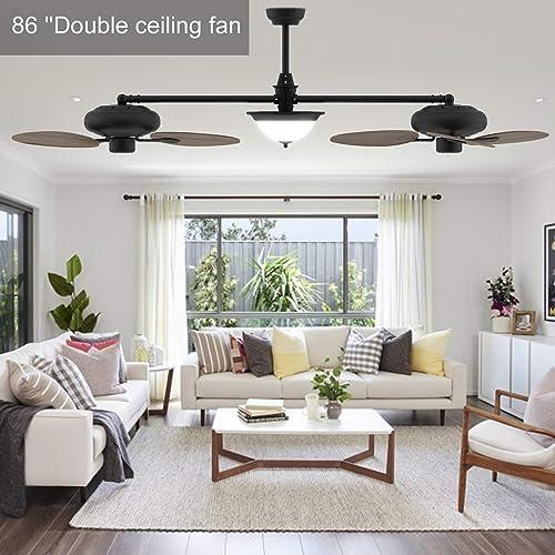 Ovlaim 86 inch Double Ceiling Fan