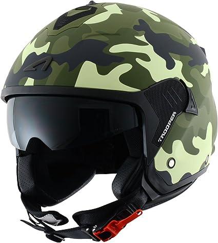Amazon.es: Astone Helmets Casco Jet Mini, diseño de soldado, color Verde, talla S