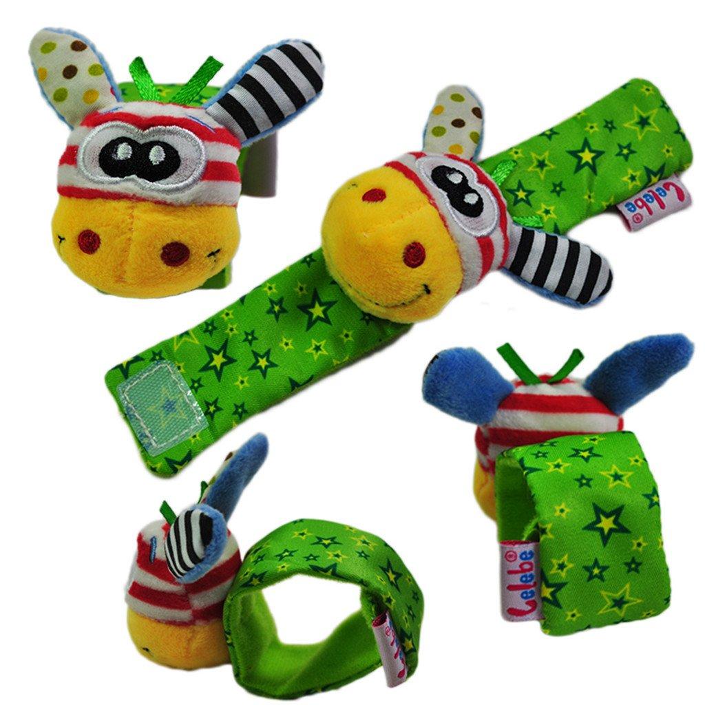 Desconocido Juguetes Juegos Infantiles Peluche Pulsera Sonajero Animales Bebés - Jirafa Boca Amarilla