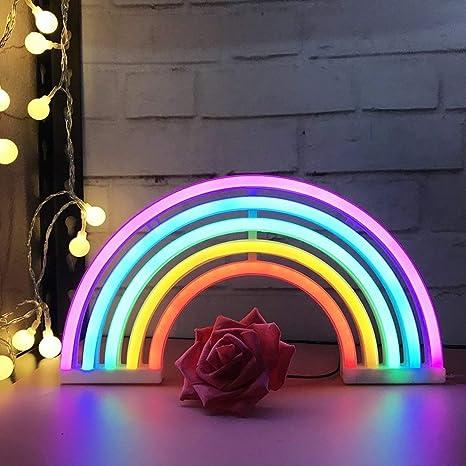 Amazon Com Aizesi Rainbow Neon Lights Rainbow Christmas Lights Neon