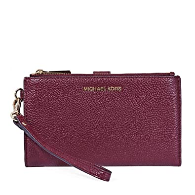 3365d5a7bc3c Michael Kors Adele Smartphone Wristlet - Oxblood: Handbags: Amazon.com