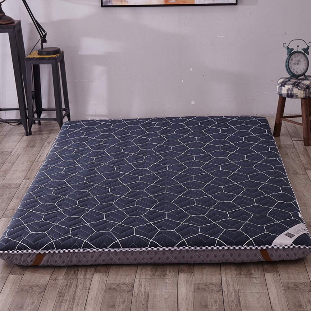 MM-CDZ Thick Mattress Topper Pad,Cotton Quilted Sleeping Tatami Floor Mat,Folding Breathable Traditional Japanese Futon Cushion,Anti-Skid Soft Bed Topper Mattress for Student Dormitory-e Queen