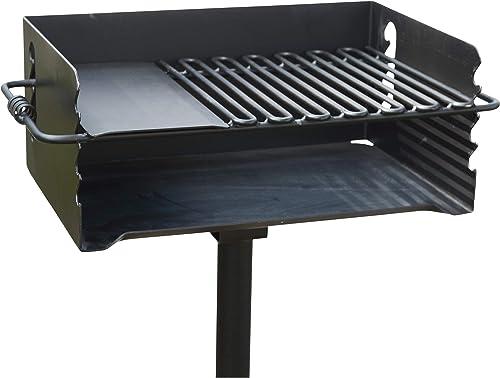 Pilot Rock Heavy-Duty Jumbo Steel Park-Style Charcoal Grill -24 1 4in. x 16 1 8in. Model Number CBP-247