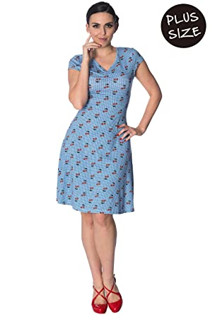 Banned Cherry Love Cap Sleeve Vintage Retro Plus Size Dress at ...