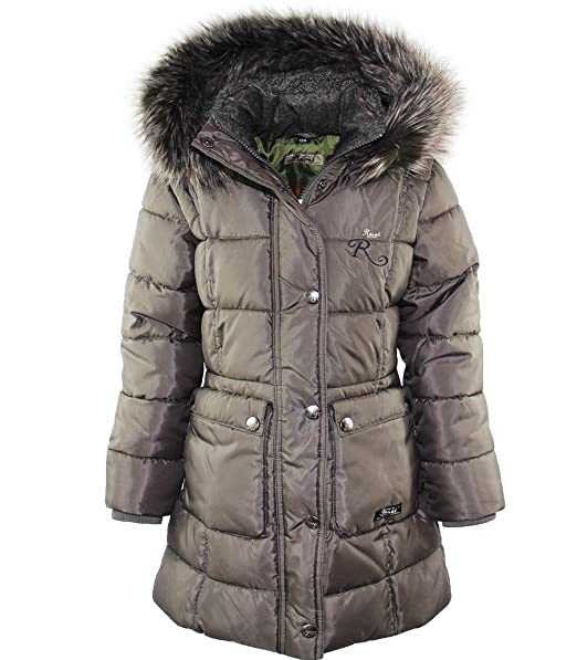 Reset - Abrigo - chaqueta guateada - para niña gris 176 cm: Amazon.es: Ropa y accesorios