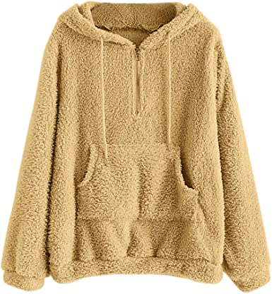 Fashion Men Casual Autumn Winter Warm Cotton V-neck Hooded Sweater Top Blouse