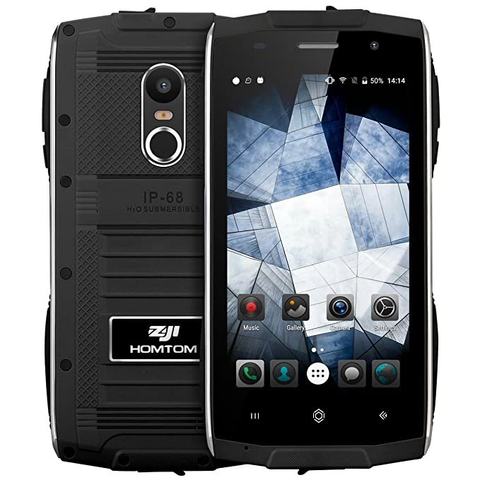 HOMTOM ZOJI Z6 -Smartphone 4.7 pulgadas IP68 impermeable robusto 3G Moviles Android 6.0 marco metálico ultra delgado MTK6580 Quad Core 1.3GHz 1 GB de RAM de ...