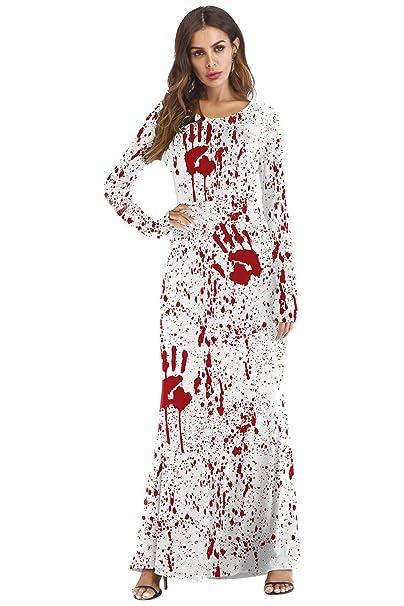 Amazon.com: Disfraz de enfermera con estampado 3D de palma ...