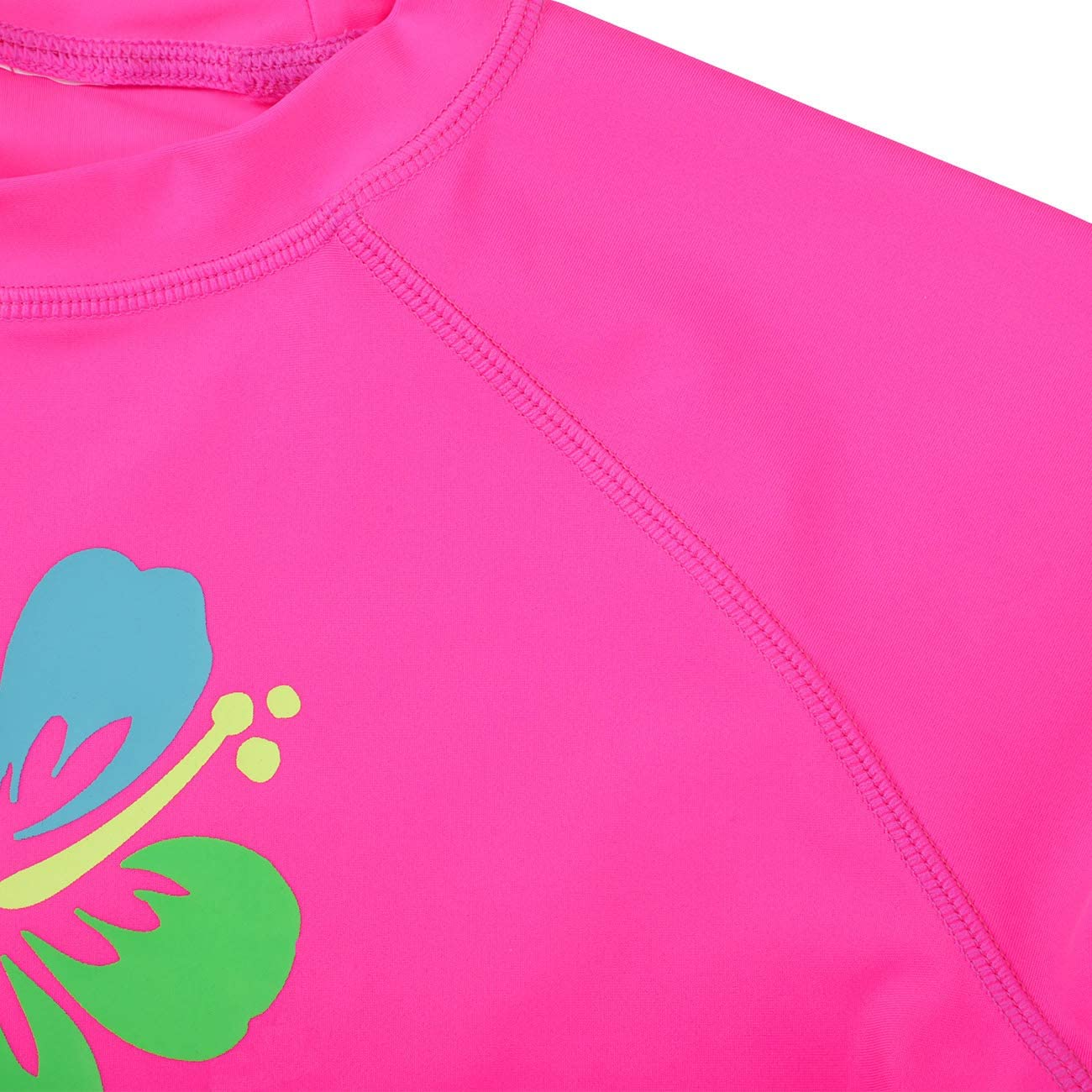 DAYU Girls Flower Long Sleeve Rashguard