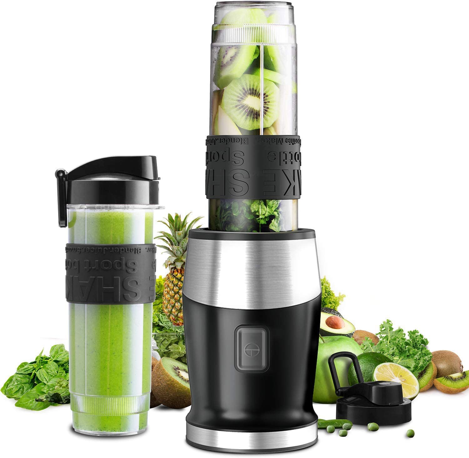 Chokelee Personal Blender, Smoothie Blender 2-in-1 Single Serve Blender, Mini Bullet Blender 300W with 20 Oz Tritan Sports Bottle for Juices, Shakes and Smoothies