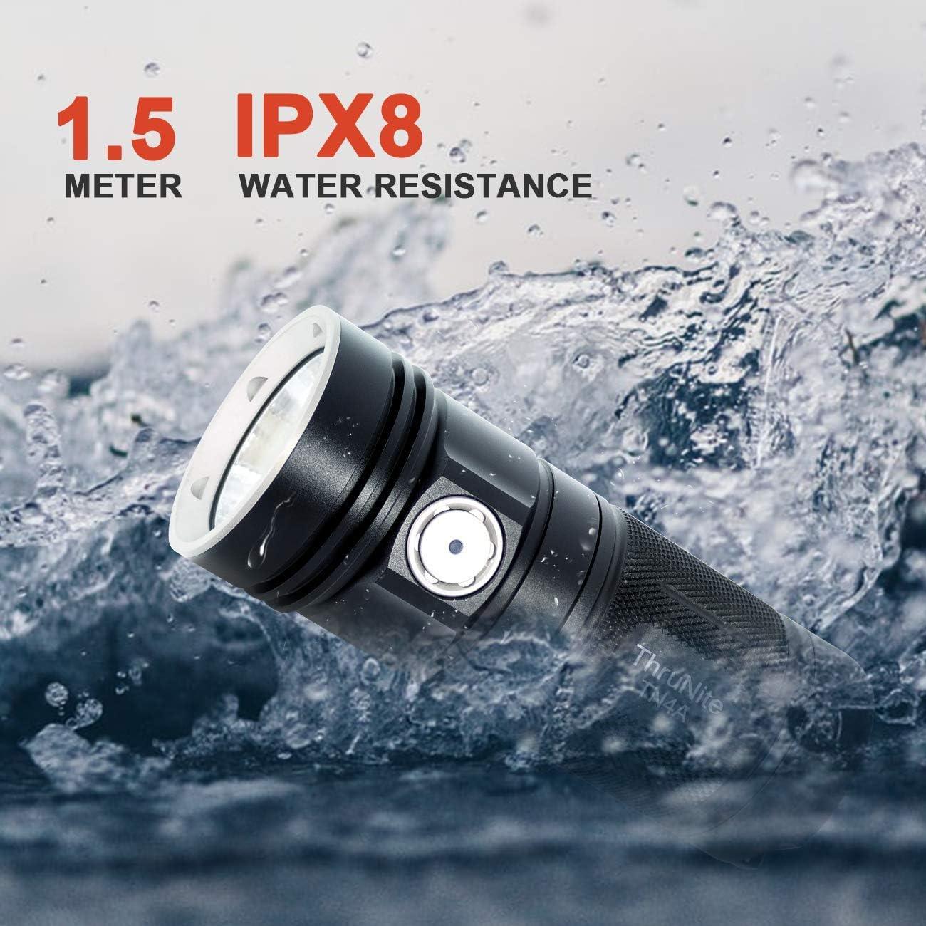 Cool White batterie non incluse Torcia ThruNite TN4A CREE XP-L Torcia a LED 1150 Lumen Search Light Super Bright