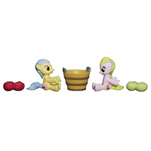 My Little Pony Friendship is Magic Collection Apple Flora and Candy Caramel Tooth Figure Pack