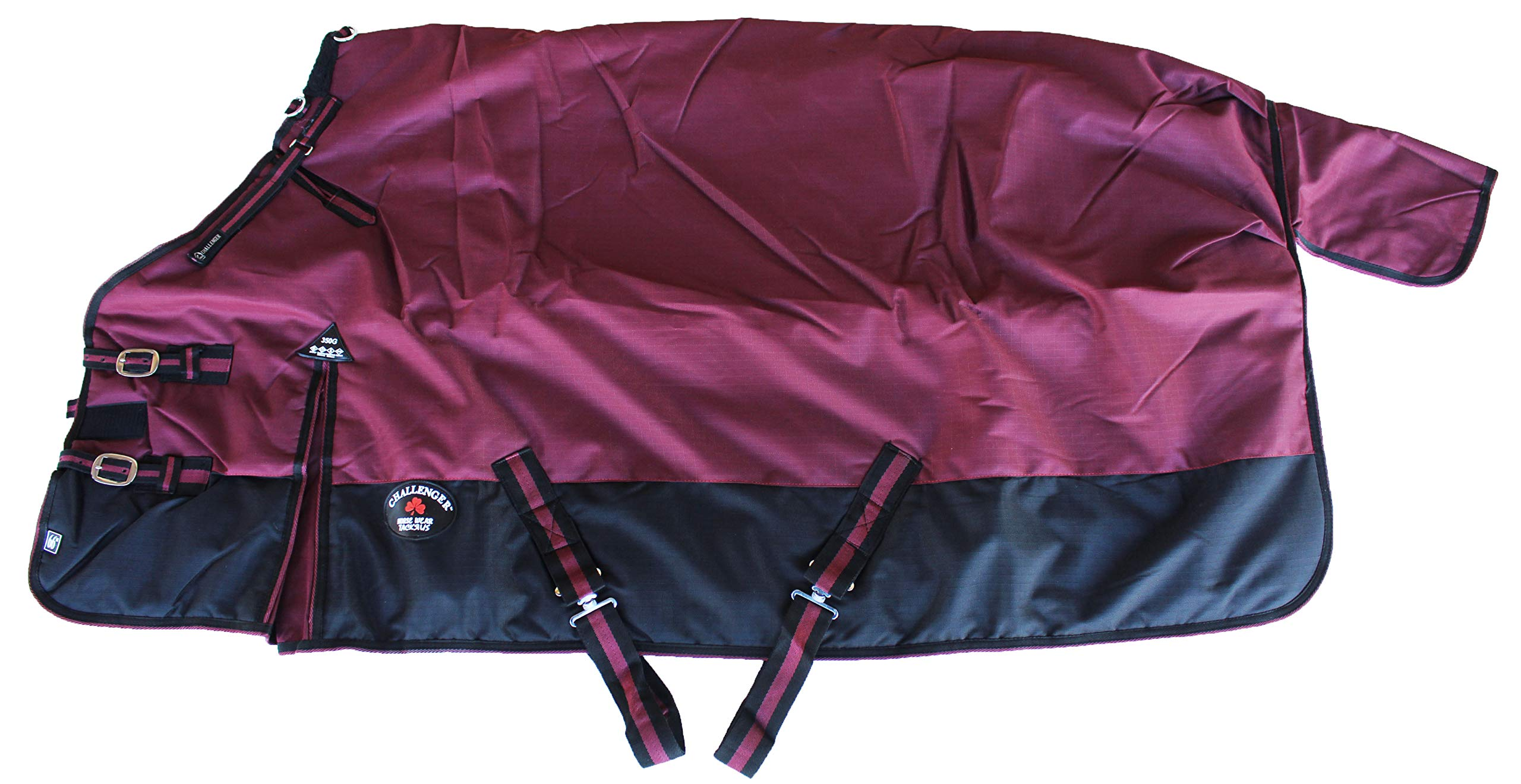CHALLENGER 76'' 1200D Horse Turnout Waterproof Heavy-Weight Winter Blanket 567 by CHALLENGER