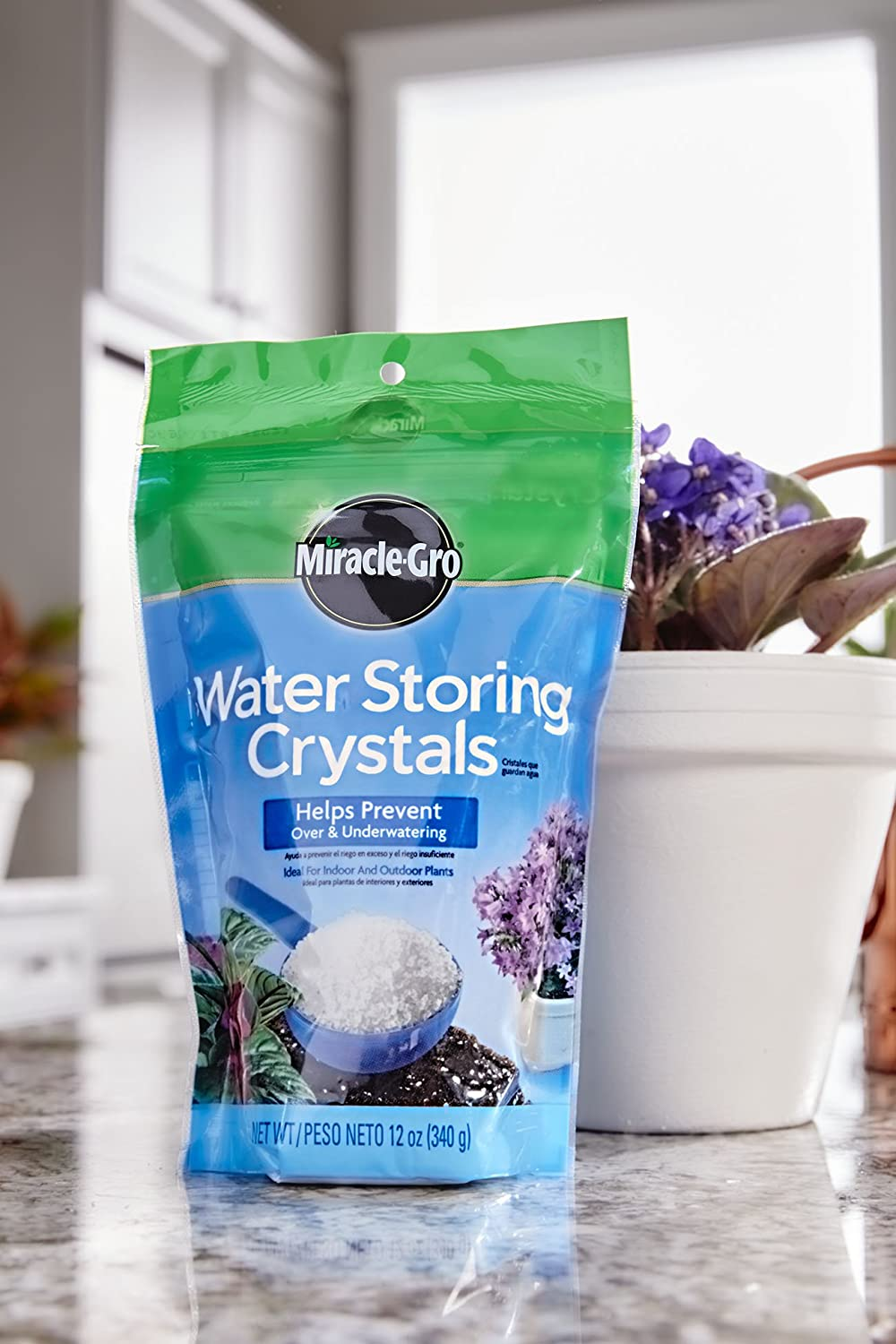 Miracle-Gro Water Storing Crystals, 12-Ounce : Soil Moisture Retention : Garden & Outdoor