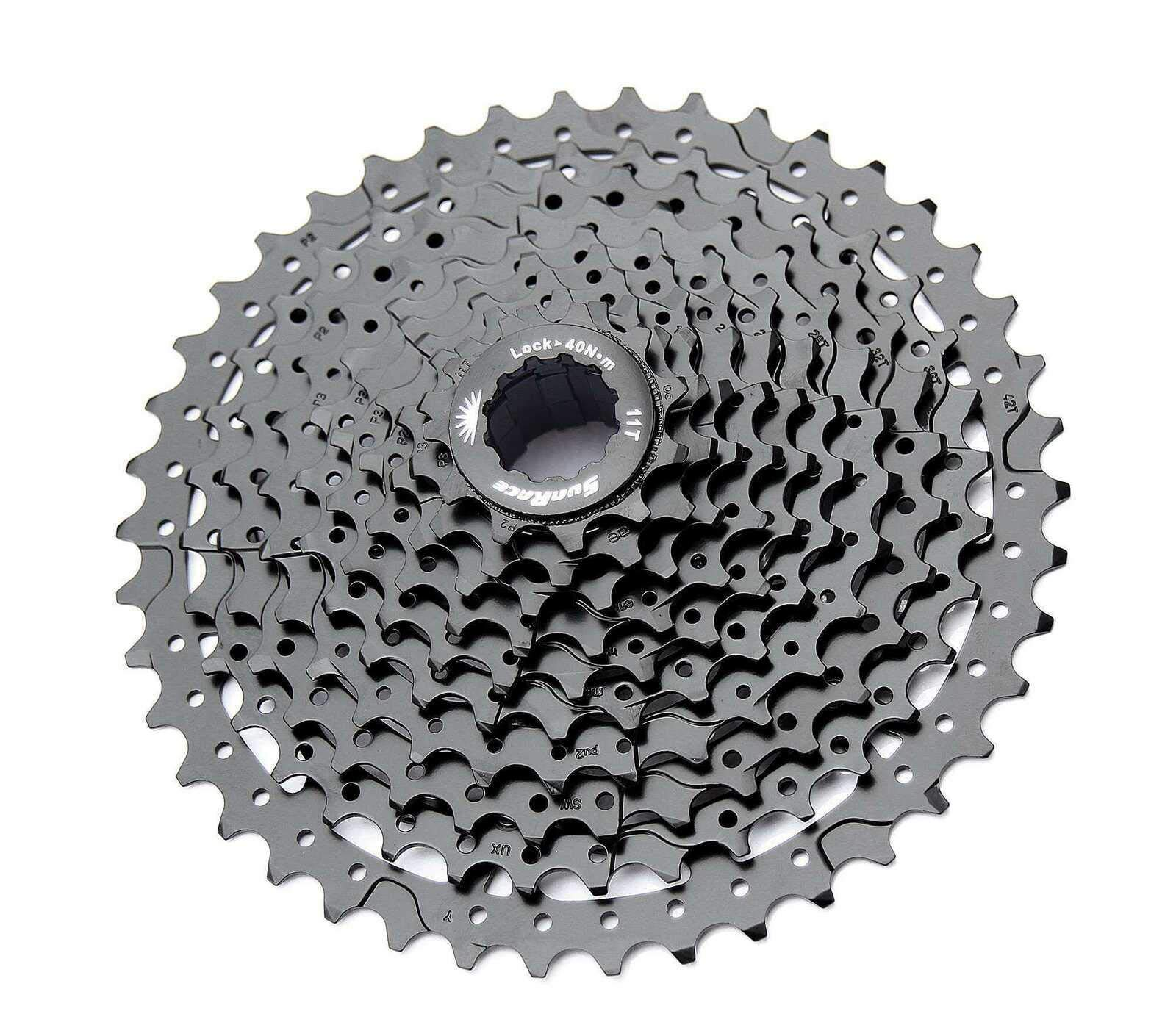 Sunrace 10-speed cassette CSMS3 wide ratio MTB (ED Black, 11-40T) by SunRace