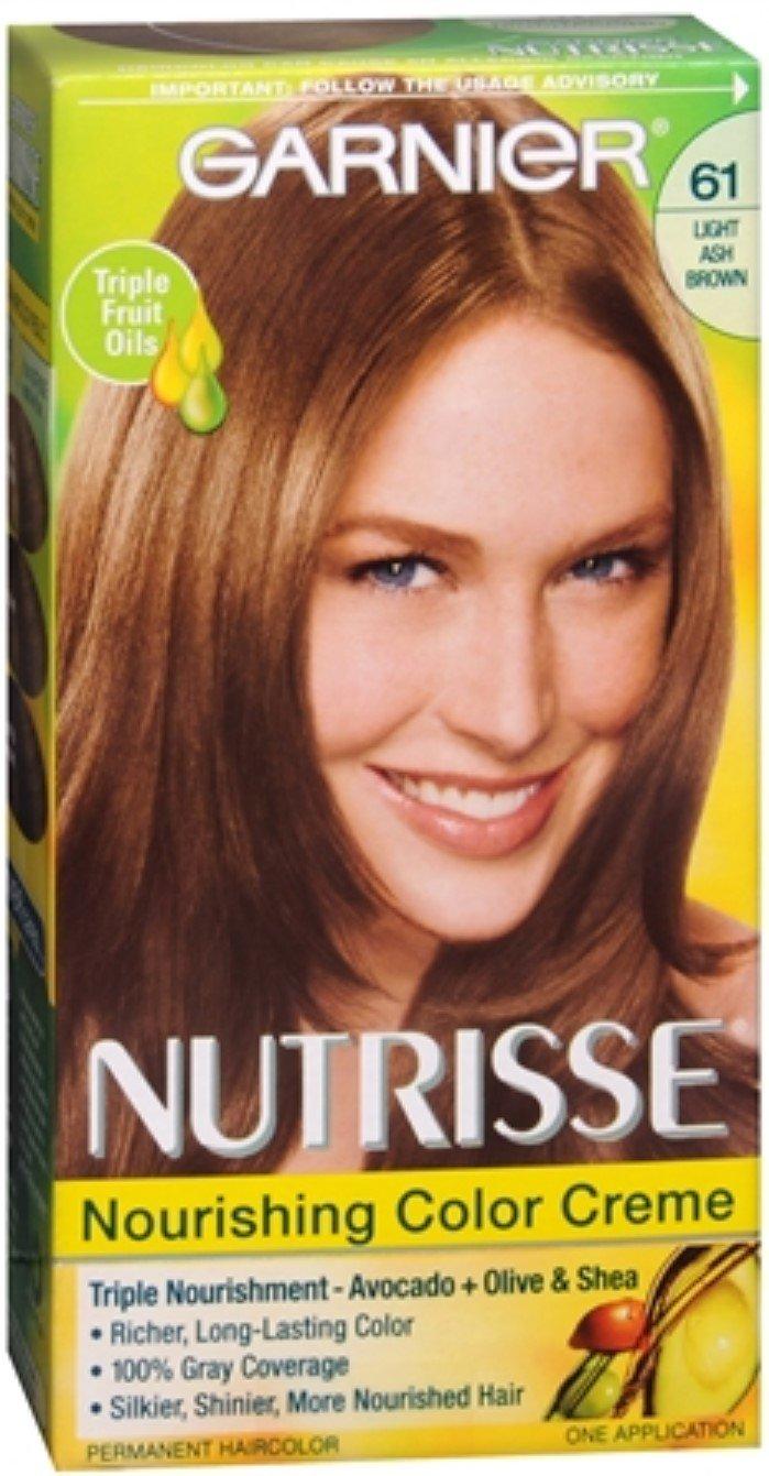 Garnier Nutrisse Haircolor - 61 Mochaccino (Light Ash Brown) 1 Each (Pack of 8) by Garnier