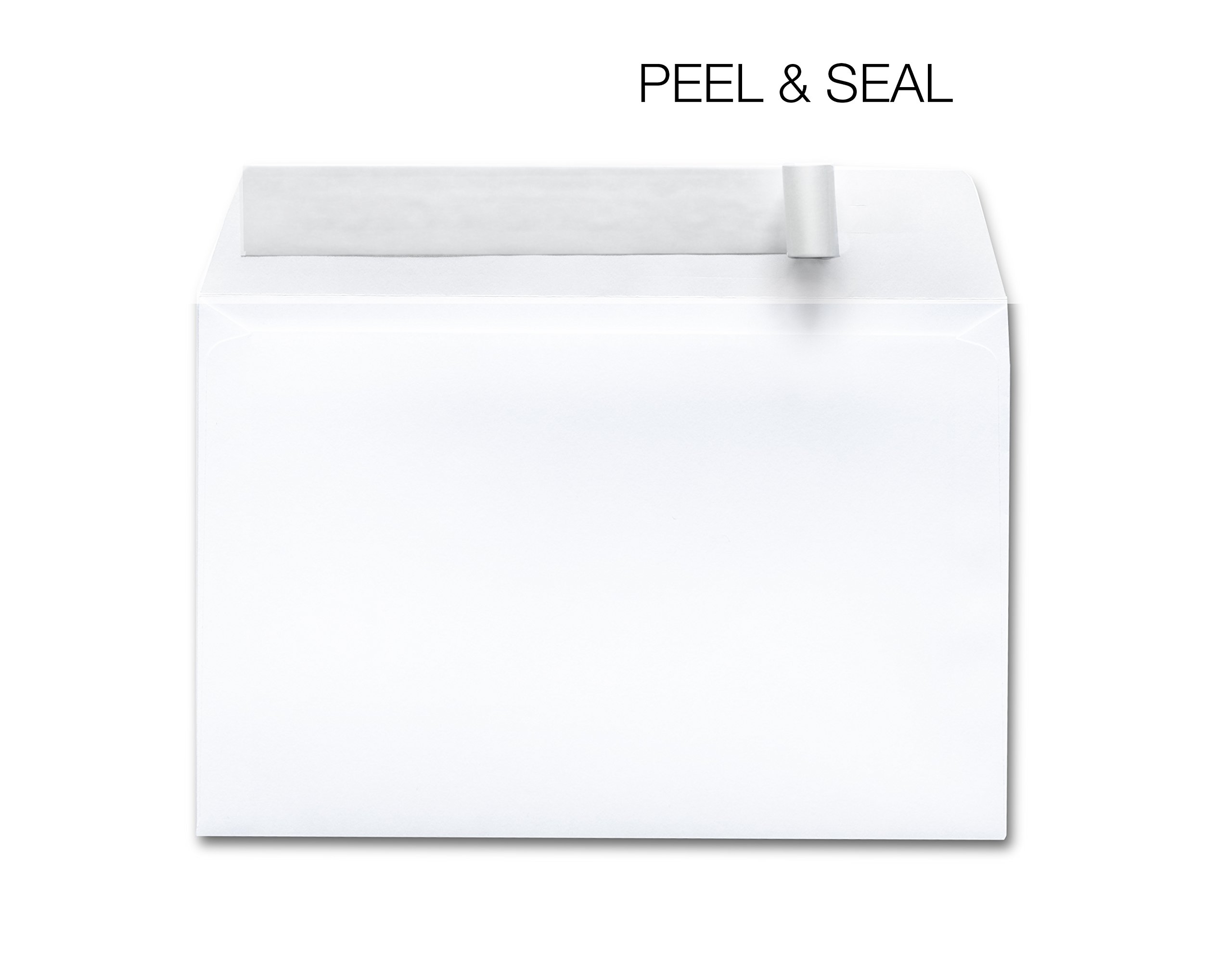 Envelopes Self Seal 6x9 White - Designed for Photography, Oversized, Weddings, School & Office Bulk Pack - 28 lb Open 6 x 9-250 / Box by EnDoc