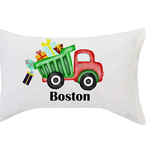 Personalized Dump Truck Pillowcase Dump Truck  Pillow Case