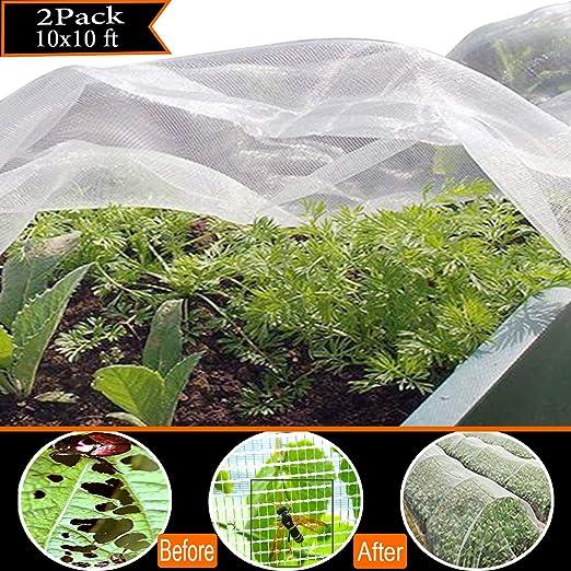 Red de malla de jardín para insectos, para insectos, pájaros, 2 ...